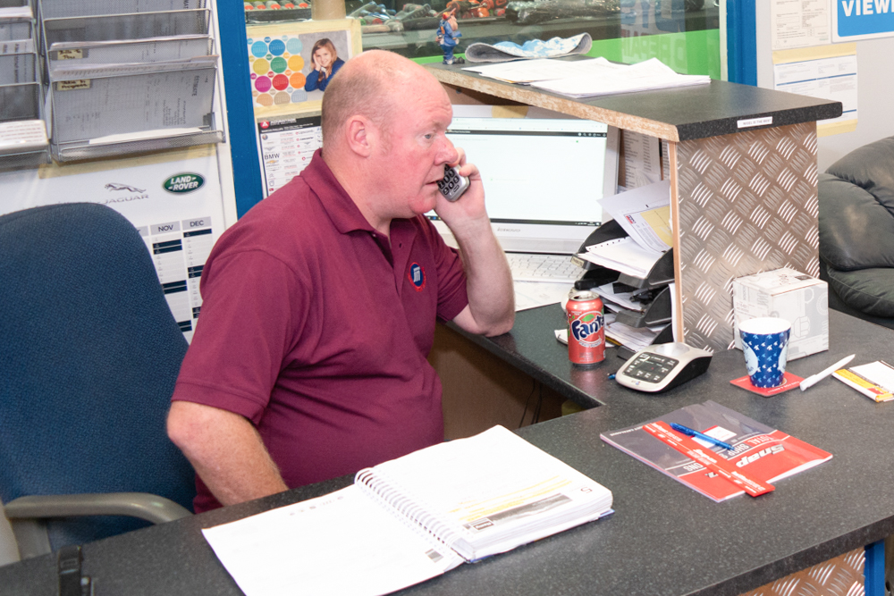 Manager Mark Answering a Customer call