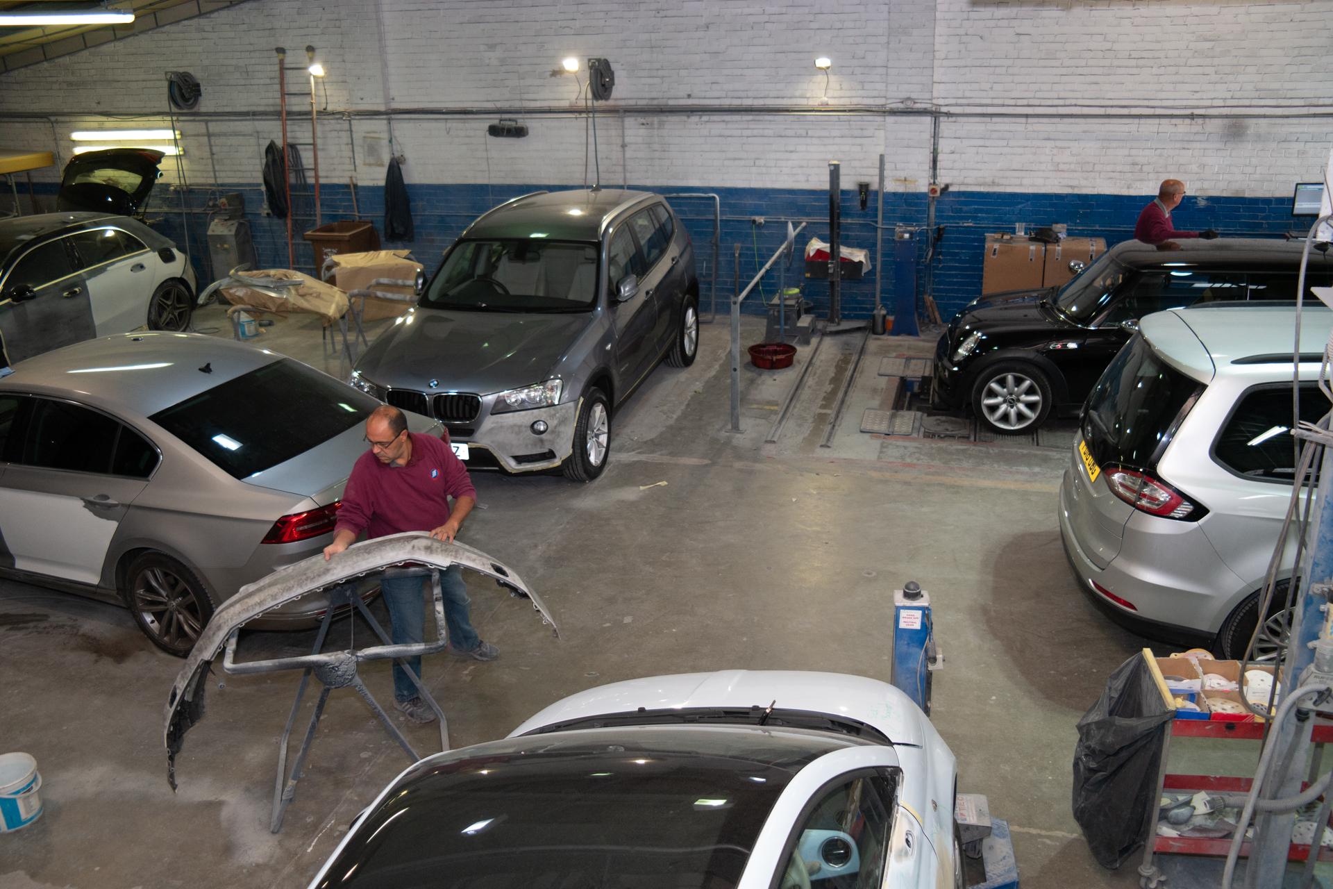 The Accident Repair Centre Workshop